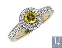 10k Yellow Gold 0.50ct. Canary Genuine Diamond Engagement Wedding Ring 1.0ct.