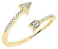 Other 10k Yellow Gold Arrow Wrap Style Diamond Engagement Fashion Cocktail Ring .10ct