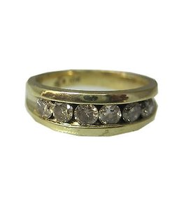 Other 10k Yellow Gold Mens Band Diamond Ring 9.75