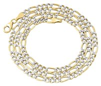 Other 110th 10k Yellow Gold Diamond Cut Figaro Link Chain Necklace 3.30mm 16- Inch