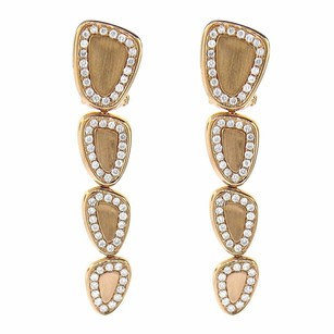 1.12ct Diamond 14k Rose Gold Dangle Earrings