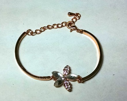 Other 14K Gold Filled Bracelet Bangle Cubic Zirconia Crystals J747