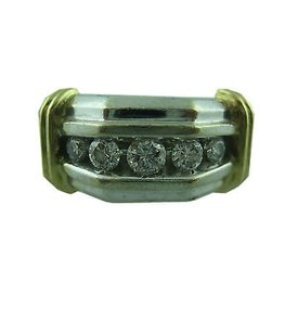 Other 14k Multi Tone Gold Mens Diamond Ring 10.25