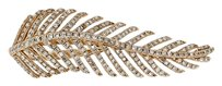 Other 14k Rose Gold and Diamond Feather Ring Size 7