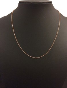 14K Solid Rose Gold Cable Chain 20 Inches