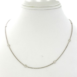 14k Solid White Gold Diamonds by the Yard Necklace Chain .77ct 4.6g 19''