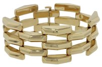 14k Solid Yellow Gold 6.75 inch Large Link Bracelet 56g