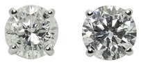 Other 14k White Gold 1.30 Tcw I1 H-i Round Cut Diamond Stud Earrings E295