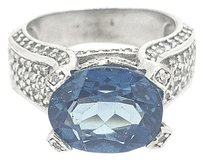 Other 14k White Gold Diamond & Blue Sapphire Ring