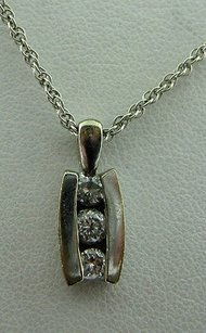 Other 14k White Gold Diamond Necklace Pendant Charm