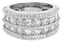 14k White Gold Mens Ladies Round Diamond 12mm Fashion Cocktail Band Ring 2.71 Ct