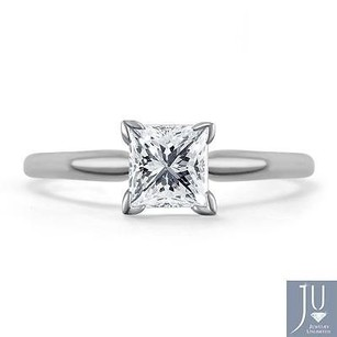 14k White Gold Princess Cut Solitaire Diamond Engagement Promise Ring 34 Ct