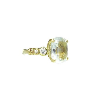 Other 14k Yellow Gold Clear Blue Topaz Ladies Ring