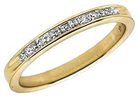 Other 14k Yellow Gold Invisible Princess Real Diamond Engagement Ring Band 0.25ct 2mm