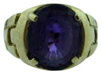14k Yellow Gold Ladies Amethyst Ring