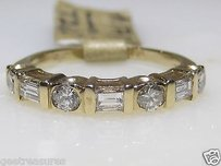 14kt Yellow Gold Diamond Wedding Band Engagement Ring .70cts.