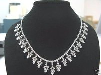 18.15ct Drop Down Diamond Necklace Wg 18kt
