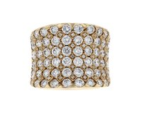 18k Rose Gold and 3.39ct Diamond Concave Ring Size 7