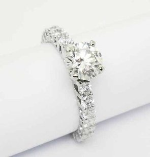 18k White Gold 2.12 Carats Tcw Round Cut Diamond Engagement Ring 6.75 R42