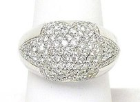 Other 18k White Gold 2ctw Diamond Star Shape Dome Design Ladies Ring