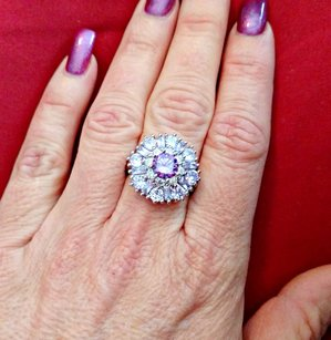 Other 18K White Gold Amethyst and Topaz Ring #6488