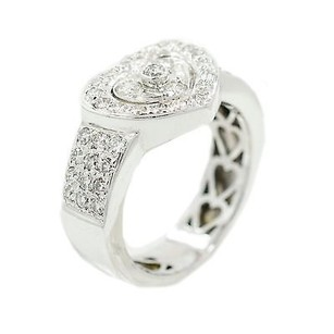 18k White Gold Heart Shape 1.15 Ct Diamond Ring 11.4 Grams Ring