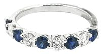 Other 18k White Gold Sapphire Diamond Ring