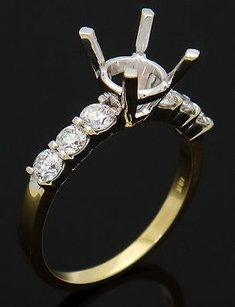 18k White Yellow Gold 0.60 Cts Tcw Vs1 G Diamond Engagement Ring Mounting R365