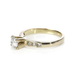 18k Yellow Gold Diamond Engagement Ring Size 4.5