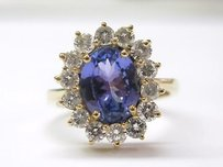 18kt Gem Tanzanite Diamond Anniversary Ring 3.54ct
