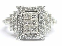 18kt Invisible Diamond White Gold Jewelry Ring 1.00ct