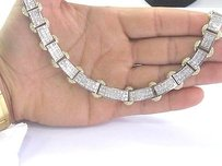 18kt Princess Cut Diamond Invisible Setting Gold Necklace 18 20.68ct