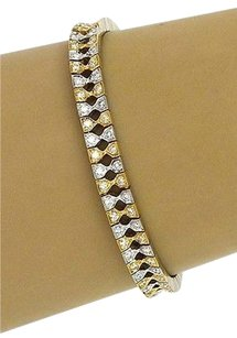 Other 18kt Two Tone Gold 3ctw Diamond Unique Design Tennis Bracelet