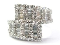 18kt Multi Shape Diamond 2-row Ring Wg 1.81ct