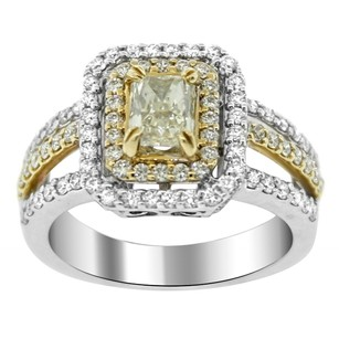 Other 1.90ct Diamond Two Tone Gold Split Shank Engagment Ring 5-8