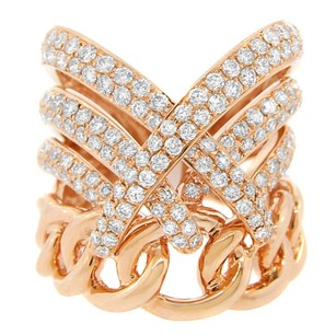 Other 1.95ct Diamond 18k Rose Gold Lace Over Ring 4-10
