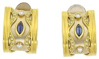 18k,Yellow,Gold,Diamonds,Sapphire,Earrings