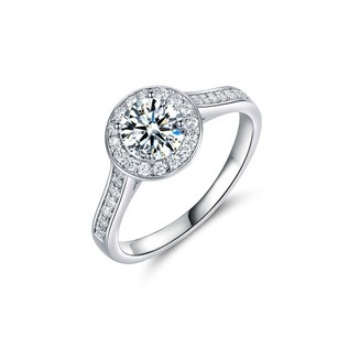 18kt White Gold Plated Cz Engagement Ring