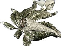 10k Custom Marijuana Leaf Green And White Diamond Joint Pendant 7.5 Ct