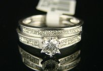 14k Ladies Solitaire Bridal Engagement Diamond Ring 1.0