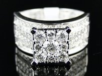 White Gold Ladies Diamond Wedding Engagement Ring 1.5ct