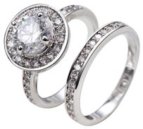 Other 2ct halo engagement ring and wedding band