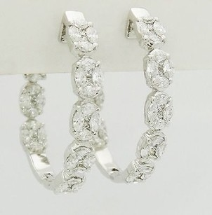 4.80 Carat Vs1-2 G-h Brilliant Cut Diamond Inside Out Hoop Earrings 1.32 E15