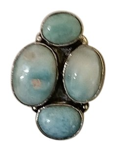50 carat Caribbean Larimar and Sterling Silver Ring