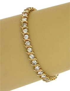 Other 5.00ct Diamonds Tennis Link Bracelet In 14k Yellow Gold
