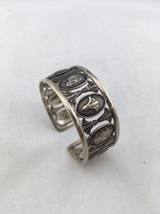 925 Sterling Silver Egyptian Bangle