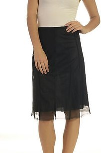 Poleci Perforated Mesh Skirt Black