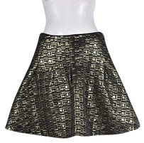 Other Kate Spade Saturday Womens Black Above Knee Metallic Skirt Gold