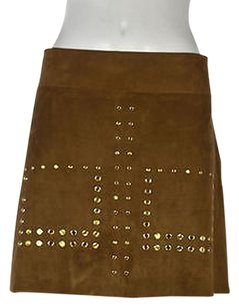 Other Zara Wb Collection Womens Above Knee Polyester Blend Skirt Tan