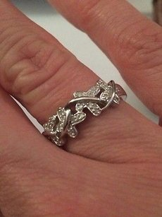 Affinity Diamond Jewelry 110 Ct Sterling Silver Butterfly Ring Ko